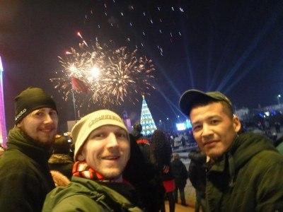 New Years Eve/Day fireworks in Bishkek, Kyrgyzstan