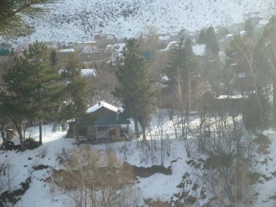 Summer huts in Ala Archa National Park