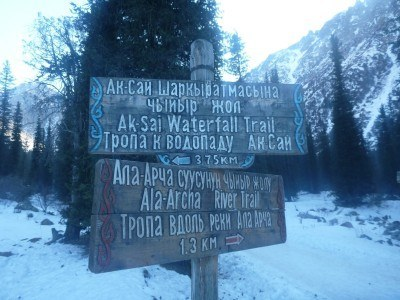 Signs for the trail