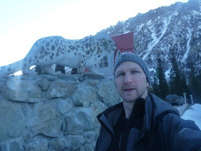 Selfie with a Snow Leopard
