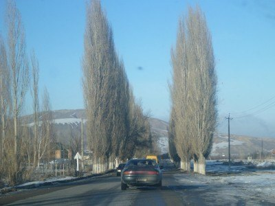 Driving back to Bishkek