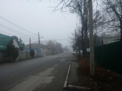 Jukeev Pudovkin Street near the Afghanistan Embassy