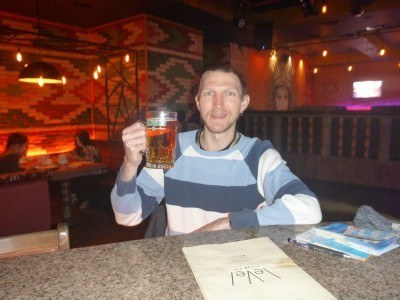 A beer in Level Club, attached to the Evropa Hotel