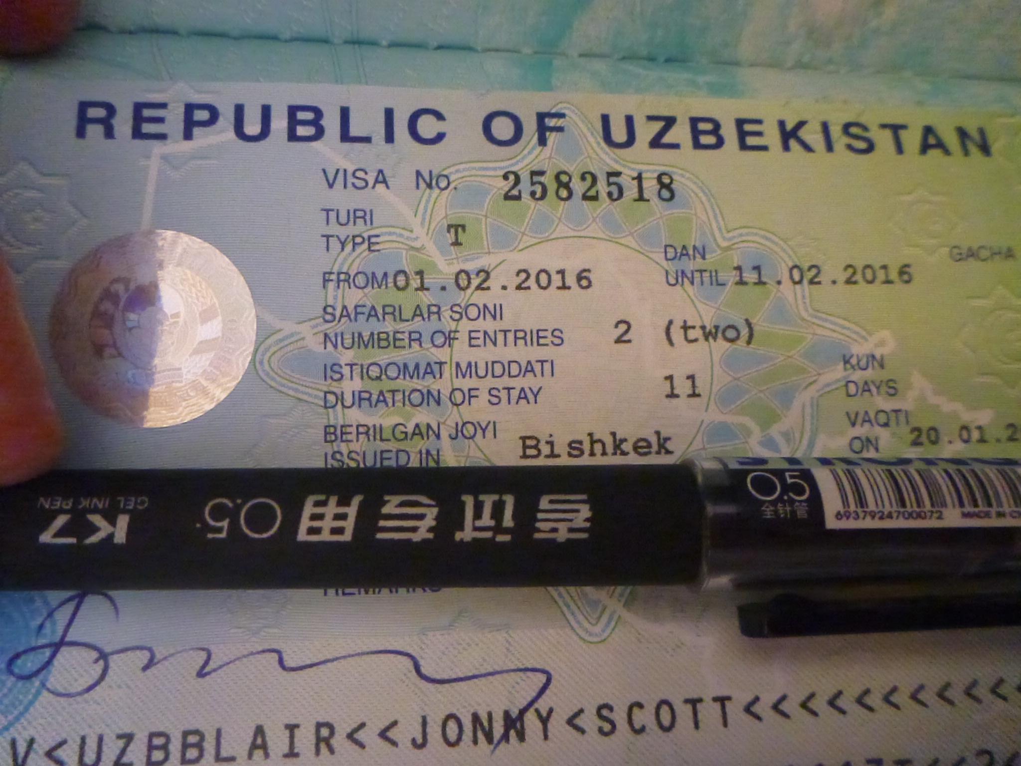 How to get an uzbekistan visa in bishkek kyrgyzstan dont stop living how to get an uzbekistan visa in bishkek kyrgyzstan stopboris Choice Image