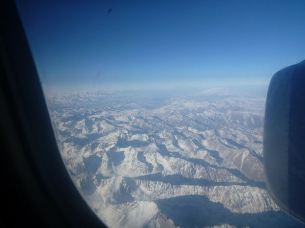 Best flight view in 6 years - over the Kyrgyzstan to Tajikistan border!