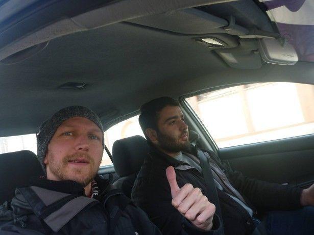 With Shoukrou, my driver in Dushanbe, Tajikistan