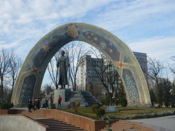 Rudaki Statue and Mosaic, Dushanbe