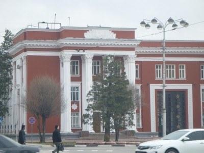 Parliament Building, Soviet-era in Dushanbe, Tajikistan