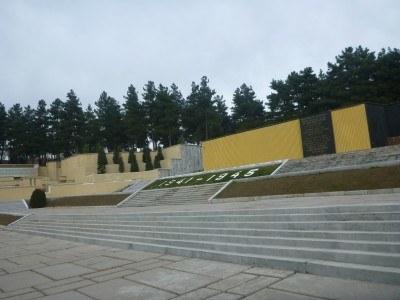 Victory Park in Dushanbe, Tajikistan