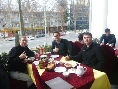Lunch in Dushanbe with Alisher and Said