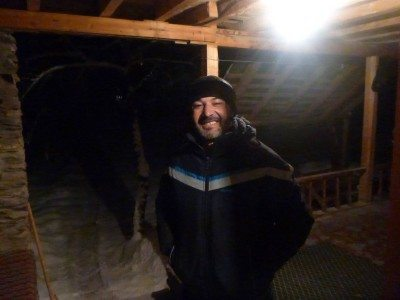 Said welcomes me at 4am to Pamir Lodge!