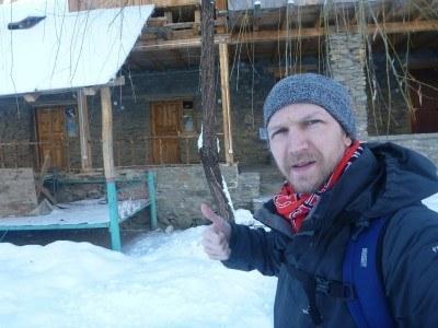 Northern Irish travel writer in Pamir Lodge.