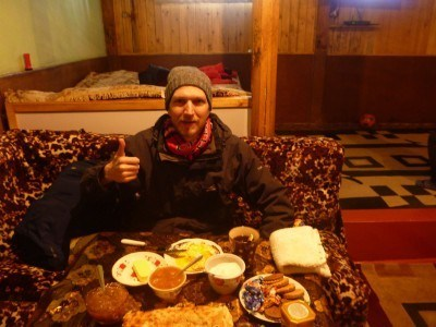 Breakfast in Pamir Lodge