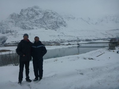 Said and I in front of the Afghanistan border