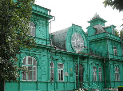 Top sights in Bobruisk, yes really a green library!