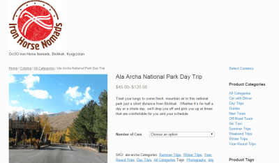 Booking a trip to Ala Archa with Iron Horse Nomads