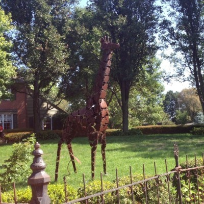 The metal giraffe