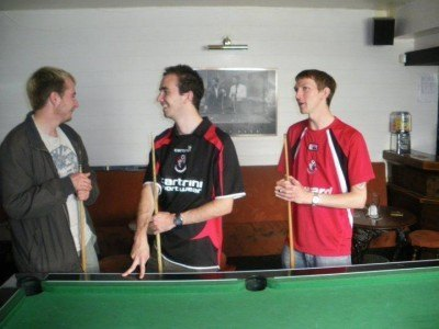 Another AFC Bournemouth away day with the lads - Richard and Dan on route to Hereford away, 2009