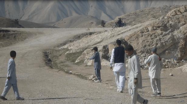 Pitchside in Haibak, Afghanistan