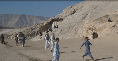 Playing Football at Samangan, Afghanistan