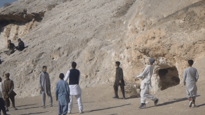 Is it a goal? My lob in Samangan, Afghanistan