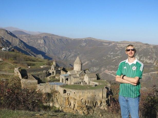 Jonny Blair at Tatev Monastery in Armenia