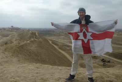 Northern Irishman on walls of Alexander the Greats lost city