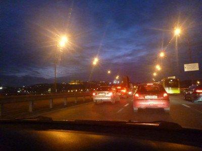 It was nightfall when we arrived in Kiev