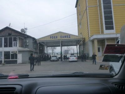 Finally leaving Dushanbe bus station!