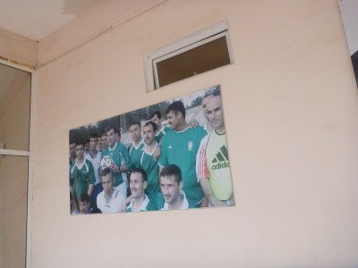 Football photo in sports arena in Kulob