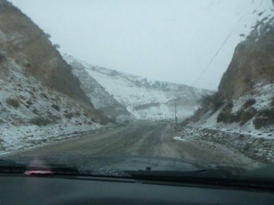 The drive up through the mountains to the Gorno Badakhshan border.