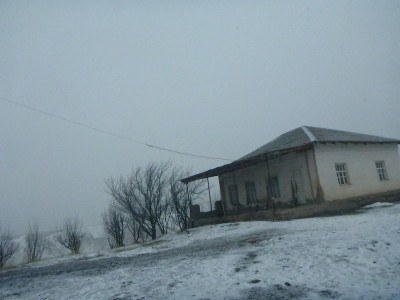 The border huts for leaving the main part of Tajikistan for the GBAO region.