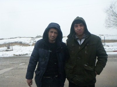 The guy from Khorog and Faruk, my Afghan friend