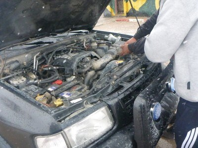 Trying to start the car
