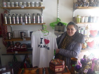 Munira in her souvenir shop