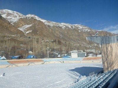 Football stadium in Khorog, Pamirs