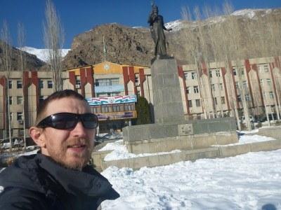 The Somoni Statue in Khorog, Gorno Badakhshan