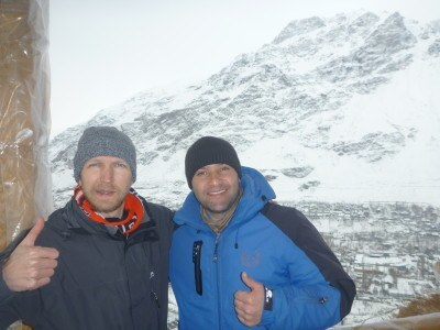 With Zohir at the viewpoint over Khorog
