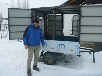 Zohir and his mobile library