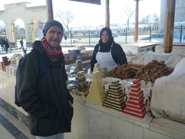 Touring the Bazaar in Samarkand City