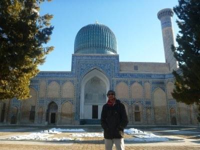 Touring Amir Temur's mausoleum in Samarkand