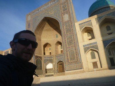 All alone in Bukhara, ghost town!