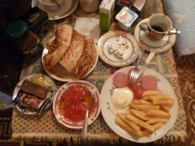 What a breakfast here at Madina and Ali's!