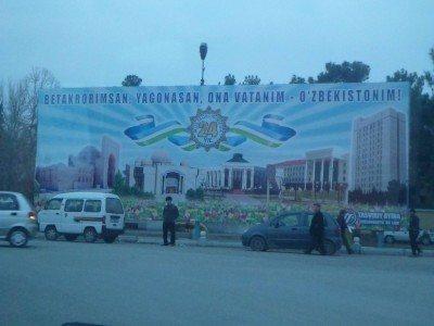 Uzbekistan government propaganda in Termiz