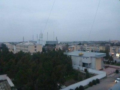 My hotel room view in Termiz