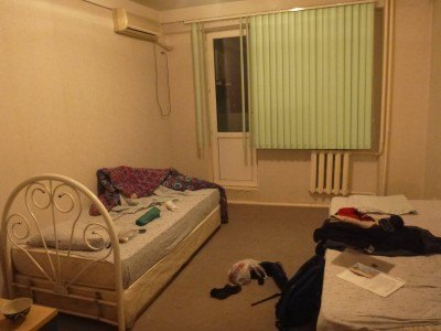 My hotel room in Termiz. There was just something inspiring on the go here.