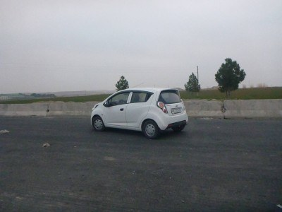 A lonely car at the border point