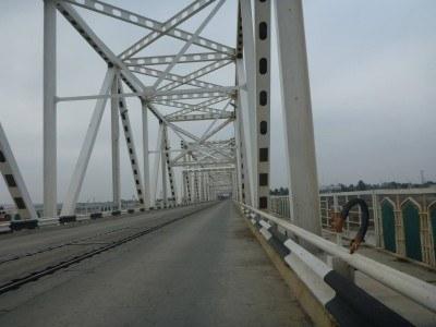 The Friendship Bridge - Hayratan border into Afghanistan from Uzbekistan