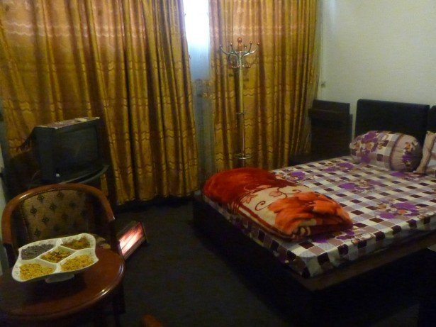 My room with TV, cosy bed and heater