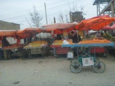Fruit and veg stalls in Masar e Sharif